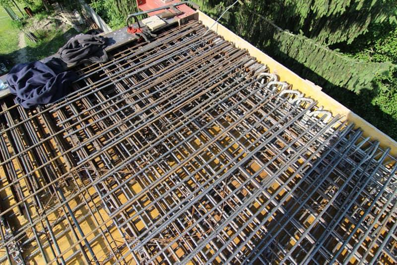 strop stavby betonáž