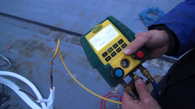 klimatizácia - skúška tlaku/tesnosti