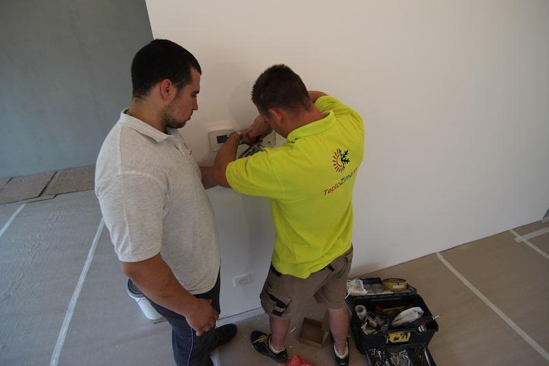 klimatizácia - ovládací panel