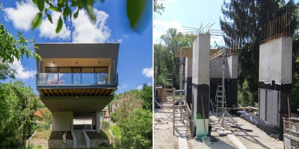 Lietajúci dom 1: Zakladanie stavby